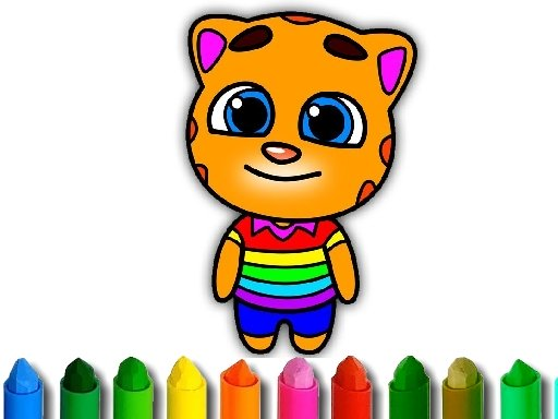 Talking Tom Coloring Book Online