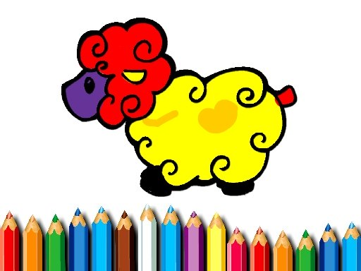 Baby Sheep Coloring Book Online