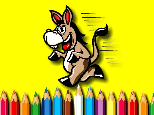 BTS Donkey Coloring Book Online